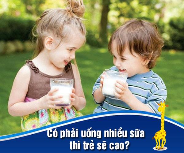Có phải uống nhiều sữa thì trẻ sẽ cao?
